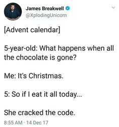 I miss when we used to get advent calendars