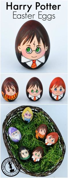 Celebrate Easter with a set of Harry Potter Easter Eggs! A quirky craft for Harry Potter fans.