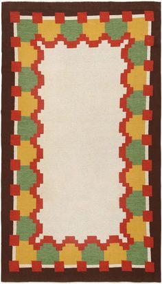 Vintage Swedish Kilim 46860 Detail/Large View