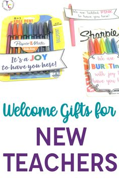 Welcome new teachers to your building with these easy and affordable new teacher welcome gifts. Whether it's a cute saying with a paint pen, or a personalized drink coaster, these easy ideas are perfect for the beginning of the year. These ideas are great for mentor teachers, instructional coaches, the sunshine committee, or just a grade level partner that wants to make her teammate feel welcome. Welcome New Teachers, New Teacher Gifts, Instructional Coaching, Instructional Strategies, First Year Teaching, Teaching Tips, Teacher Quotes, Teacher Hacks, Welcome Back Gifts