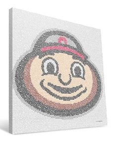 Another great find on #zulily! Ohio State Buckeyes Typographic Logo Wrapped Canvas #zulilyfinds