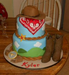 Cowboy cake - First attempt at a cowboy cake.