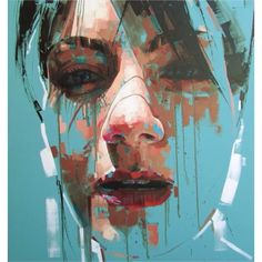 """Cut Here"" - Jimmy Law, acrylic on canvas, 2014 {figurative art… Abstract Portrait, Portrait Art, Figure Painting, Painting & Drawing, Painting Inspiration, Art Inspo, Jimmy Law, Modern Art, Contemporary Art"