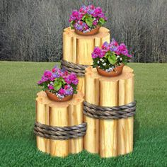 11-2304 - Timber Pot Holders Woodworking Plan Set - 3 plans included