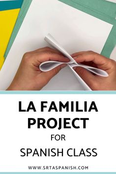 Family words are one of those things everyone has to cover, whether you teach with a textbook or not. Here's a quick idea for practicing la familia vocabulary! Check out this FREE download for a final project, test, assessment, or just a review of family vocabulary for your unit! Spanish Classroom, Teaching Spanish, Sentence Prompts, Middle School Spanish, Spanish Lesson Plans, Family Units, Spanish 1, Personal History, Class Activities