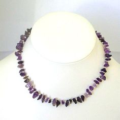 Purple Amethyst Necklace  UK Seller  Purple and Silver by Pookledo, £15.00