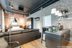 Кухня в индустриальном стиле. Кухня в стиле лофт. Loft kitchen. Industrial kitchen. #лофт #кухня #индустриальный_дизайн #лофт_интерьеры #loft #kitchen #idustrial