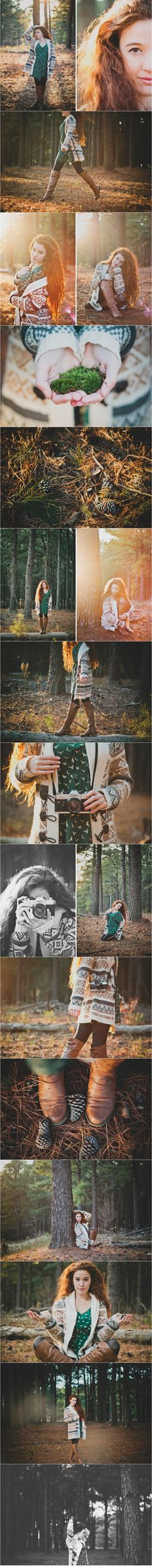 senior girl photography posing ideas- almost looks like it was taken in the forest down our road=D