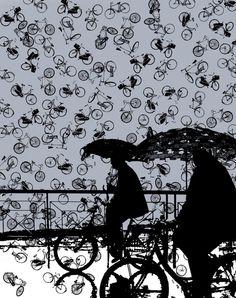 Bikes + Rain = Life in Portland.