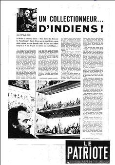 Le Patriote Illustré : Un Collectionneur ...D'Indiens (27.09.1964)