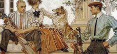 1910 Arrow Collars and Cluett Shirts ad