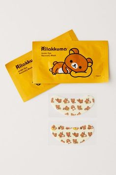 Urban Outfitters Rilakkuma Under-Eye Recovery Mask Set Beauty Care, Beauty Skin, Under Eye Mask, How To Get Rid Of Pimples, Dark Circles Under Eyes, Skin Care Tools, Rilakkuma, Face Care, Best Makeup Products