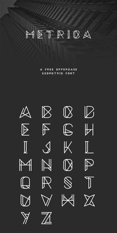 94 Best Free Fonts for Summer 2015 - Metrica font is an uppercase, sharp and mechanical free font.