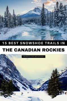 Are you looking for epic places to snowshoe in the Canadian Rockies? Here's the ultimate guide to the best snowshoe trails in the Canadian Rockies, from snowshoeing Banff National Park to the Icefields Parkway. Plus you'll find snowshoe tips and where to stay in the Canadian Rockies near each snowshoe destination. Start planning your Canada snowshoeing vacation today! I snowshoeing Canada I places to snowshoe in Canada I Canada travel I winter in Canada I #Canada #snowshoe Canadian Travel, Canadian Rockies, Beautiful Places To Visit, Cool Places To Visit, Adventure Awaits, Adventure Travel, Hiking Usa, Vacation Is Over, Canada Destinations