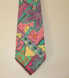WOW! MENS PASTEL COLOR TIE LANDS END COTTON MADE IN THE USA #LandsEnd