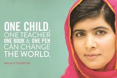 Youth heroine Malala reminds us that education is key.
