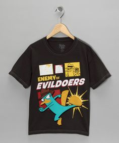 #zulily #fall Take a look at this Black 'Enemy of Evildoers' Tee - Kids by Blow-Out on #zulily today!