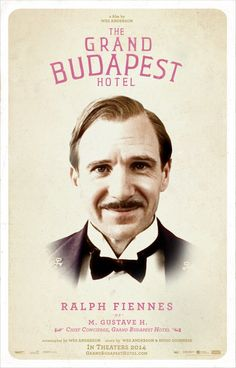 The Grand Budapest Hotel Wes Anderson) Wes Anderson, Grand Budapest Hotel Poster, Hotel Budapest, Hugo Guinness, Lobby Boy, Ralph Fiennes, Internet Movies, Opus, Movie Characters