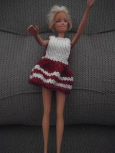 DIY toss Barbie dress bicolote