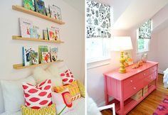 Colors for girl and love the dresser for a changing table