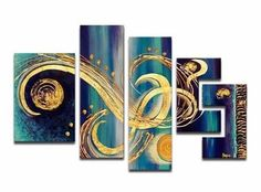 Modern Textured Oil Painting | 5 Piece | 474