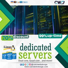 High-performing #server choices at competitive prices  starting at $69.00/mo  http://cairowebdesign.com/en/dedicated