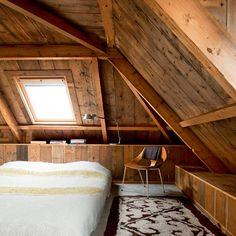 Farmhouse bedroom, Spannum, Holland. Home/studio of textile designer Claudy Jongstra.