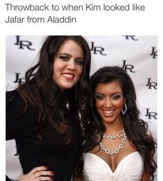 Throwback to when Kim looked like jafar from Aladdin. You can be anyone you want with Botox and plastic surgery