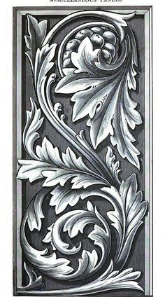 Acanthus panel .... great subject for wood carving.