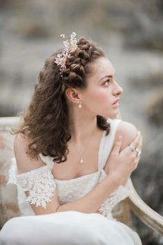 A Fine-art 'Ophelia' Inspired Bridal Editorial by Braid & Bloom