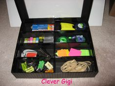 Peek-a-Boo! I See You - organize larger office supplies. $23.00  #office #organization #box #clever #container #supplies