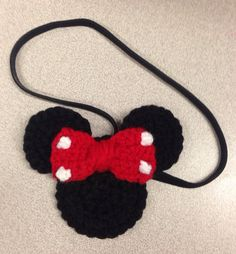 Minnie Mouse inspired headband on Etsy, $6.00