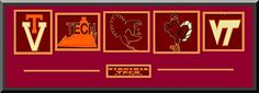 Virginia Tech Team Wool Blend Fabric Logos Throughout The Years With Team Color Double Matting-Framed Awesome & Beautiful-Most College Team Banners Available-Plz Go Through Description & Mention In Gift Message If Need A different Team Art and More, Davenport, IA http://www.amazon.com/dp/B00LA5UMQQ/ref=cm_sw_r_pi_dp_IGFDub1NJX859