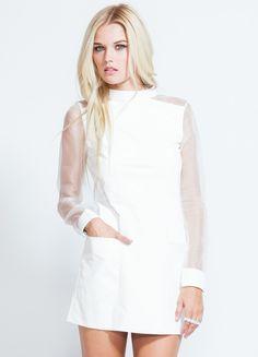 Kim Kardashian - Little White Leather Dress | Hreindýraskinns ...