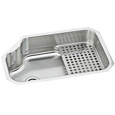 Sinks: Stainless Steel w/ Removable Drying (Elkay 825$) Shelf: It's easy to keep a counter tidy. Some of the most durable undermounts are made from stainless steel & copper.For steel, the lower its gauge, the thicker the basin's walls.So pick 20-gauge or lower to ensure that it won't dent. For copper, hand-hammering is a telltale sign of top quality. ~source: thisoldhouse.com