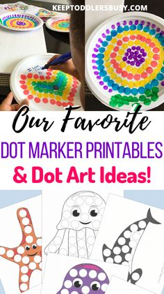 Find your free dot marker printables here! Also Dot Art inspiration for your Do a Dot Markers. The Do A Dot printables are great free resources for toddlers and preschoolers. Toddler Preschool, Toddler Crafts, Crafts For Kids, Painting For Kids, Art For Kids, Dot Letters, Kids And Parenting, Parenting Ideas, Do A Dot