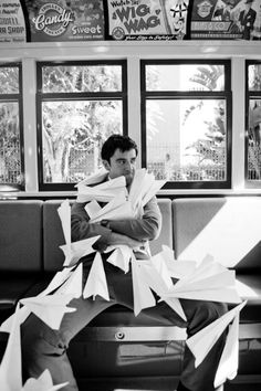 Enchanting Paperman Cosplay - This is one of the greatest Cosplay ideas I've ever seen.