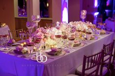 Head table for a blush garden wedding at the La Valencia Hotel with CZ Events.  Photography by France Photographers
