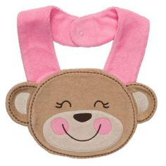 Carters Baby Girls Pink Monkey Terry Bib OSZ
