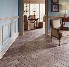 Bought our wood tile floor today! Decided on this pattern!! Because it's the gorgestest. Ever. #herringbone