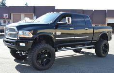 """Dodge Ram Longhorn 2014 Custom 8"""" Lift Kit – Carrier Spring Service Ltd."""