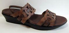Munro American Brown Leather Slingback Sandal Size 9N #MunroAmerican #Slingbacks