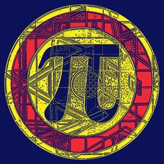 Irrational Pi Day symbol depicting Pi in all of its Glory.