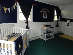 Nautical Nursery featuring crib bedding in Modern Classics~~  http://www.etsy.com/listing/114208707/custom-baby-crib-bedding-design-your-own