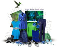 """Bright Winter Colour Study"" by spicemarket ❤ liked on Polyvore"