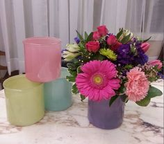 "Our own vased arrangement for Mother's Day, called ""Best Mom"" , I just love these colors."