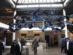 "Heartwear was at Merci' s shop in Paris for a beautiful installation called ""UNIVERSAL BLUE"""