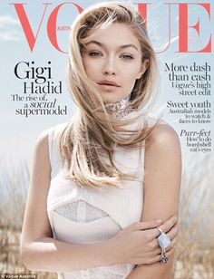 'Unreal': Gigi Hadid shared the cover of her Vogue Australia shoot with her Instagram foll...
