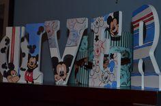 Disney Inspired Wooden Nursery Letters