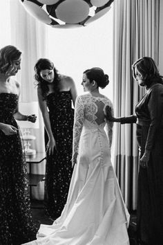 This custom lace wedding dress features lace long sleeves and a beautiful open back wedding dress silhouette. The wedding dress with buttons down the back is a classic and timeless wedding dress. #laceweddingdress #customweddingdress #weddingdresswithsleeves #classicweddingdress #bride #bridalgown #wedding #weddingdress Custom Wedding Dress, Wedding Gowns, Wedding Venues, Long Sleeve Wedding, One Shoulder Wedding Dress, Chapel Length Veil, Bridal Looks, Newlyweds, Wedding Inspiration